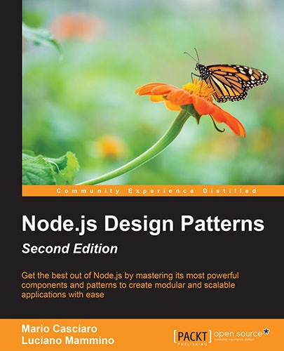 Book Cover Node.js design patterns second edition Mario Casciaro Luciano Mammino Packt Publishing