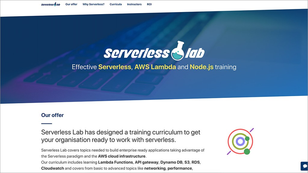 Serverless Lab website preview