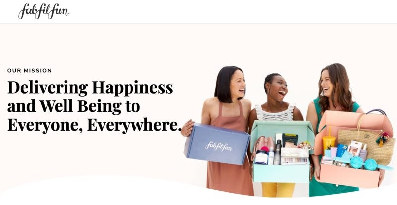 Fabfitfun is delivering happiness and well being to everyione everywhere